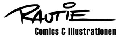 Logo Rautie Comics Illustration Malerei Zeichentrick Werbegestaltung Hanau