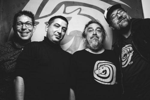 Kix von links nach rechts: Rautie, tvuzk, Raul C.O. Kauke, Jörg Ritter.Foto von Hendrik Nix